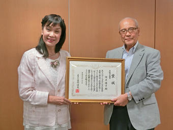 筒井通子客員教授が、「大阪御堂筋アート2017」において、大阪市長賞を受賞されました
